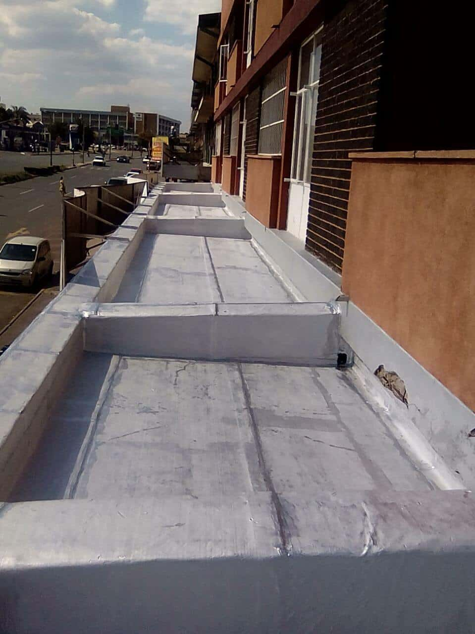 Torch-on waterproofing after